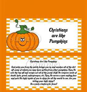 The Pumpkin Patch Parable by Christian Pumpkin Candy Bar Wrappers