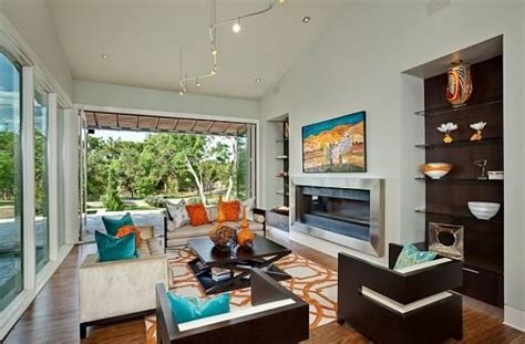 Orange Grey And Turquoise Living Room by Kolory W Salonie Zdjęcia E Mieszkanie