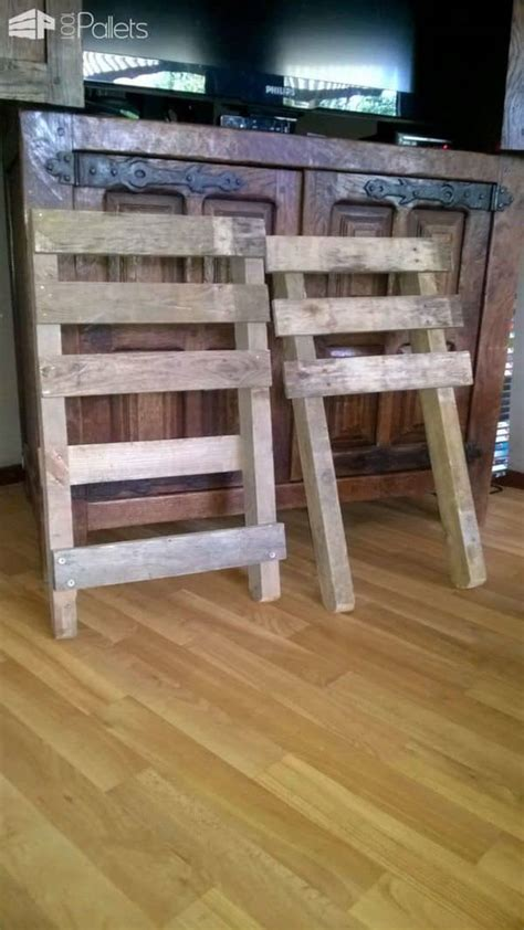 chaise en palette chaise emboitable en palette stackable pallet chair