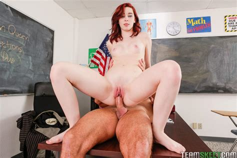 Redhead Teen Trinity May Fucks Her Teacher To Get Out Of