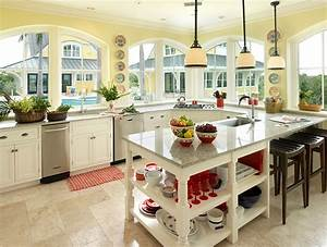 11 trendy ideas that bring gray and yellow to the kitchen With kitchen colors with white cabinets with wall art tropical