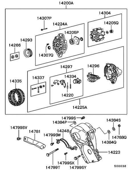 alternator vacuum pump for 1991 1994 mitsubishi l200 triton sportero strada k26t