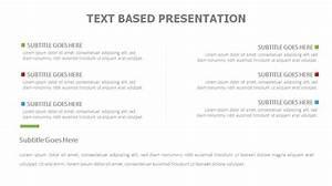 web diagrams text based presentation powerslides