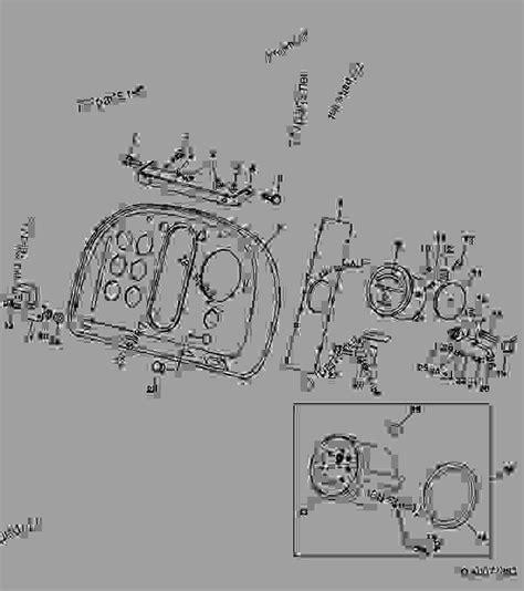 Deere 4250 Wiring Harnes by Instrument Panel 06j20 Tractor Deere 4440
