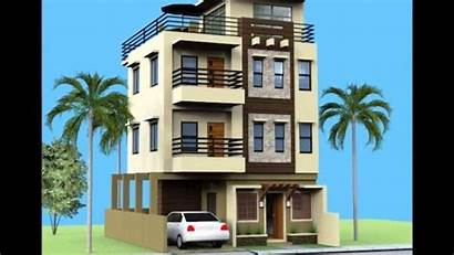 Storey Modern Plans Philippines Roof Lot Narrow