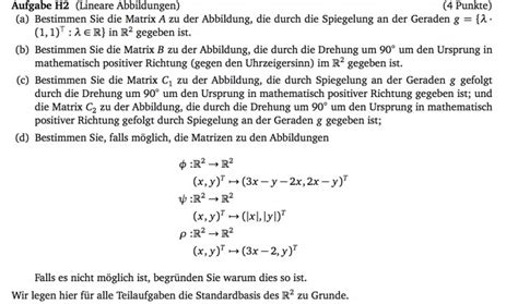 lineare abbildungen und matrizen mathelounge