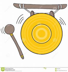 Chinese Gong stock vector Illustration of gold