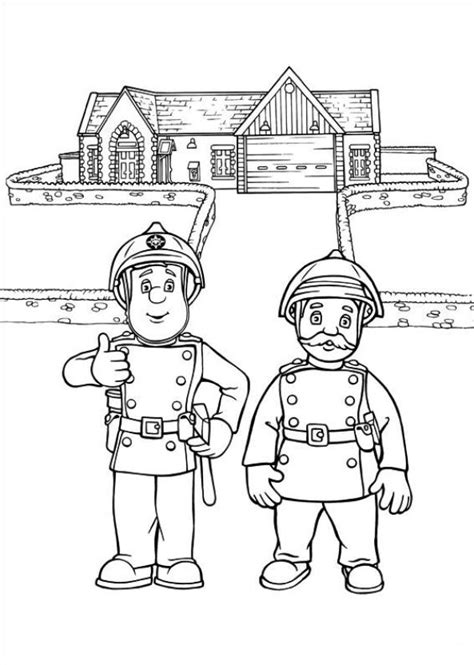 Brandweerman Sam Kleurplaat Titan by Kleurplaten En Zo 187 Kleurplaat Brandweerman Sam