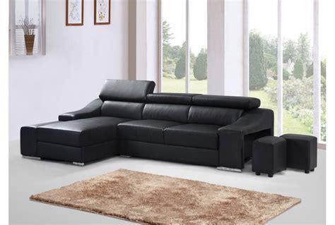 canapé simili cuir noir canapé angle noir simili cuir