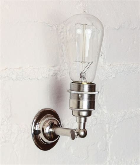 vintage metal wall light in silver the manston