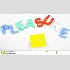 Pleasure Word Stock Images  Image 21940484