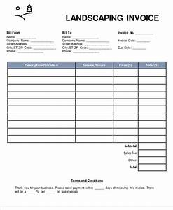6 landscaping invoice samples examples in pdf word With landscaping invoice template pdf