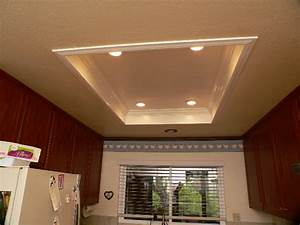 Installing recessed lighting in a kitchen : When the old fixtures come down recessed lights in and