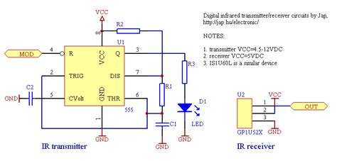Infrared Circuits For Remote Control Jap