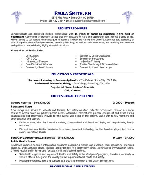 Experienced Rn Resume by Registered Resume Exle 7 Free Word Pdf
