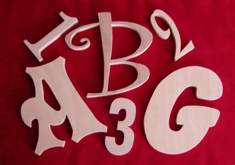 unfinished wood letters wall letters  numbers ebay