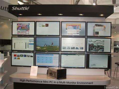 shuttle sxr mini pc steuert  monitore
