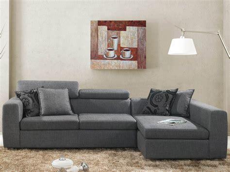 coussin canapé d angle canapé d 39 angle tissu quot quot 4 places gris