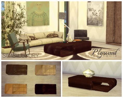 ball chair plywood coffee table  sims luxury sims