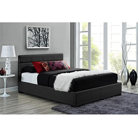 black leather headboard bed modena faux leather upholstered bed with headboard