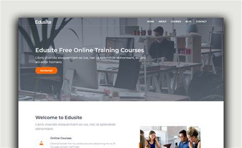 bootstrap education template based  html