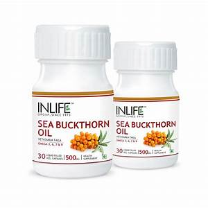 Inlife Sea Buckthorn Oil  U2013 Omega 3  6  7  U0026 9 Veg  Capsules