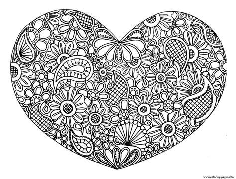 Adult Heart Mandala Fleurs Zen 2017 Coloring Pages Printable
