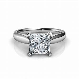 tapered cathedral princess cut engagement ring With princess diamond cut wedding rings