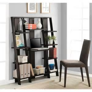 Aol Mail Help Desk by Altra Ladder Desk And Bookcase Espresso Finish Walmart Com