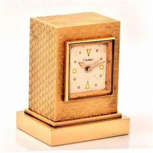 1954, Cartier, Gold, Eight, Day, Desk, Clock, For, Sale, At, 1stdibs