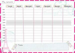Modele De Menu A Imprimer Gratuit : t l charger modele de planning simple horaire hebdomadaire gratuit astuces budget ~ Melissatoandfro.com Idées de Décoration