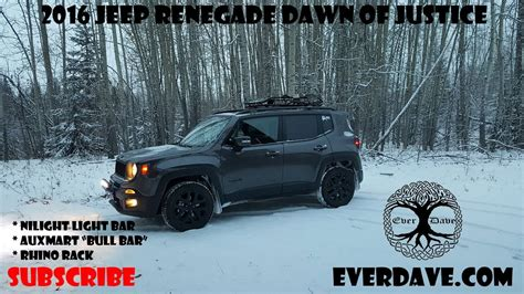 Jeep Renegade In Snow. Fiat Chrysler Automobiles Winter