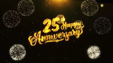 happy anniversary text greeting stock footage video