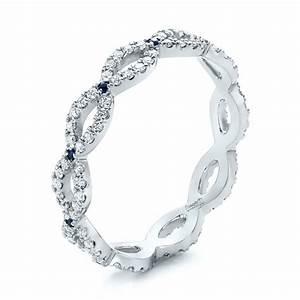 Custom Three Stone Tanzanite And Diamond Anniversary Ring