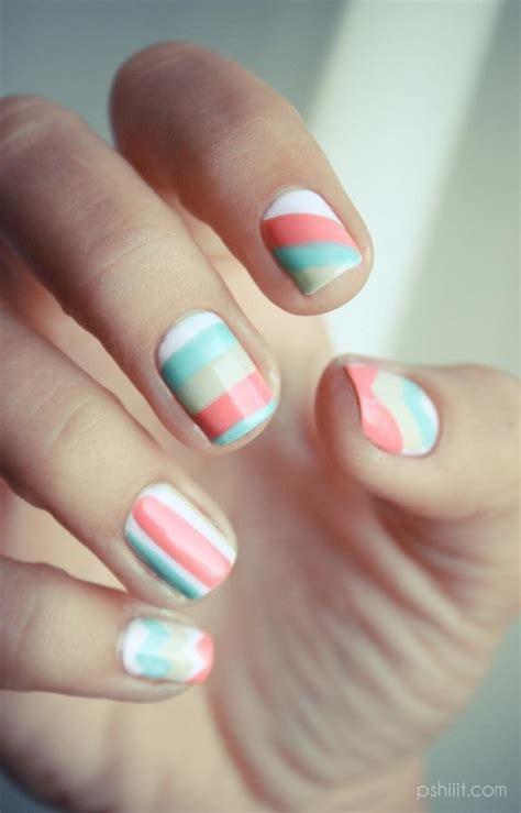cool color block nail designs hative