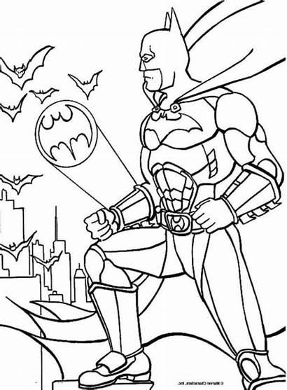 Coloring Bat Signal Batman Pages Batsignal Getcolorings