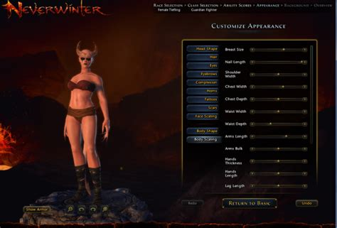 neverwinter character creation f2p onrpg mmo