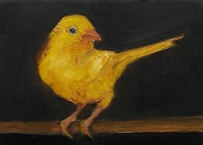 Kenari Canary Burung Painting Lukisan Gambar Bird