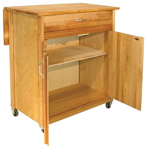 drop leaf kitchen island cart 2 door cart with drop leaf contemporary kitchen