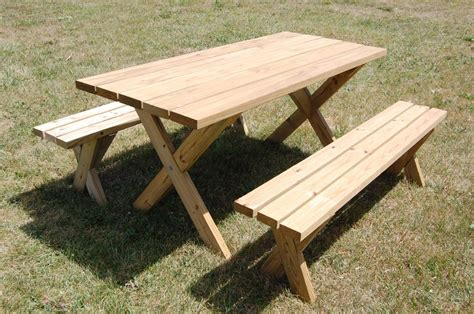 picnic benches for picnic table plans for a weekend project