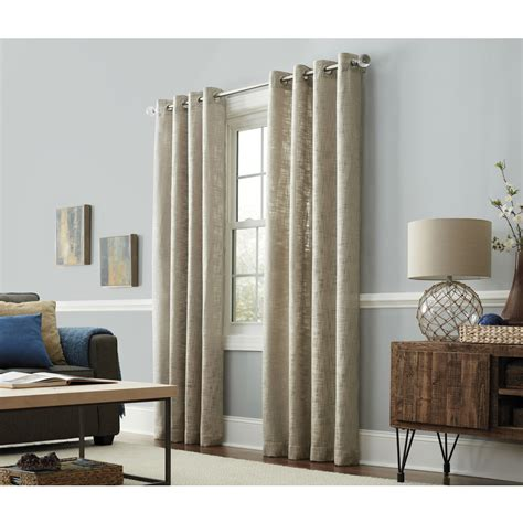 light filtering privacy curtains shop allen roth amesmore 84 in linen polyester grommet