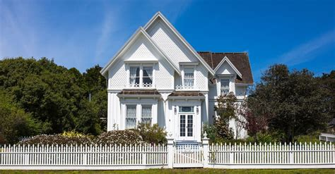 a house a home living the american dream with a white picket fence