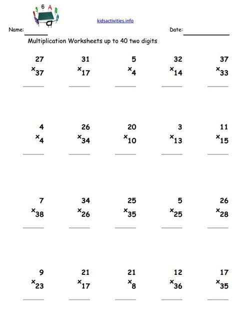 Simple Multiplication Worksheets For Grade 2 Worksheets For All  Download And Share Worksheets