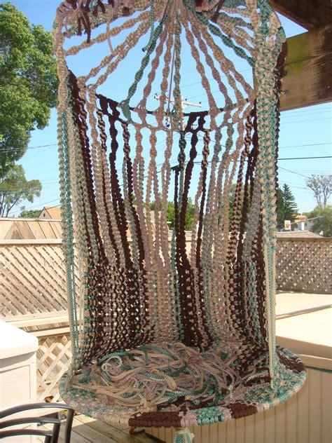 hanging macrame chair macramepurse