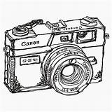 Camera Drawing Cameras Canon Stickers Coloring Pages Sticker Paint Bucket Canonet Ql17 Giii Photoshop Antique Clipartmag Redbubble Jackson Tool sketch template