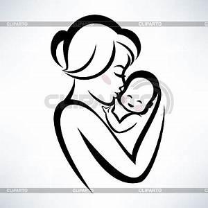 Mutter und Baby | Serie von den Bildern | CLIPARTO