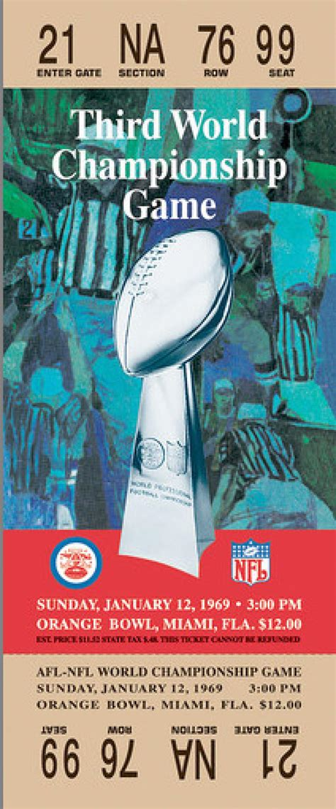 Super Bowl Iii Jets 16 Colts 7 Photos Tickets