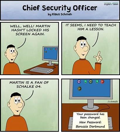 Comic Security Officer Chief Strip Kolumne Krypto