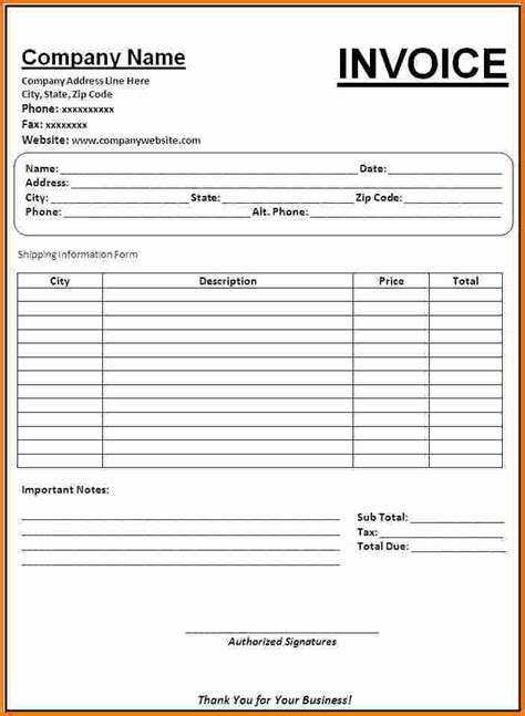invoice receipt template 8 invoice receipt template expense report