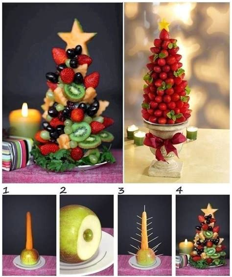 fruit christmas tree home life pinterest